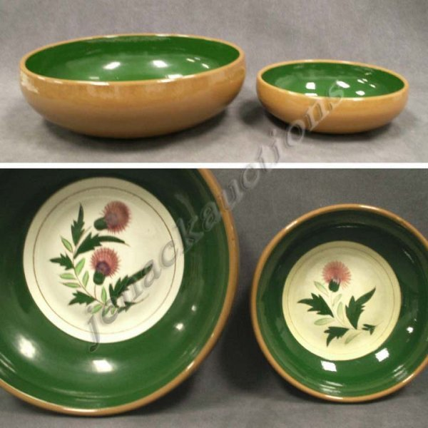 1009: LOT (2) STANGL POTTERY THISTLE SERVING BOWLS