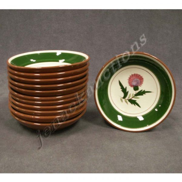 1010: LOT (12) STANGL POTTERY THISTLE BERRY BOWLS