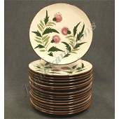 1014: LOT (16) STANGL POTTERY THISTLE DINNER PLATES