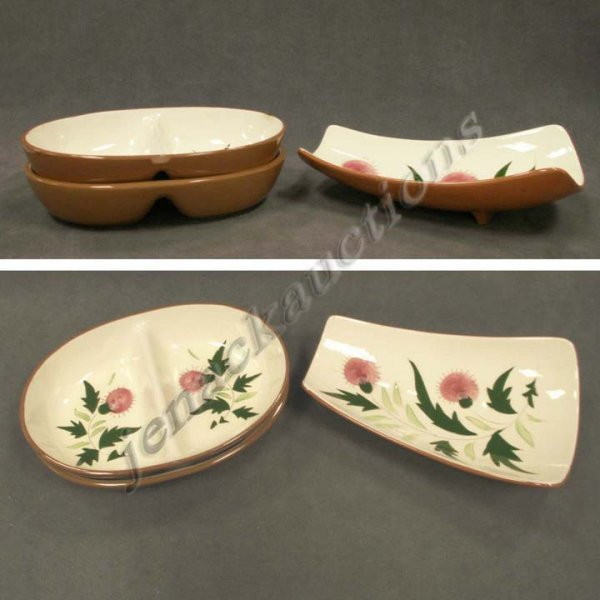 1017: LOT (3) STANGL POTTERY THISTLE DISHES/BOWL