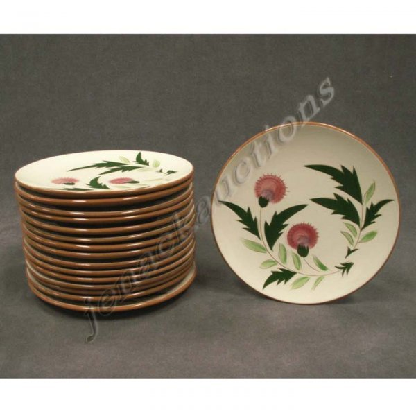 1018: LOT (16) STANGL POTTERY THISTLE SALAD PLATES