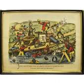 1044 CURRIER  IVES LITHOGRAPH THE DARKTOWN