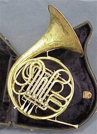 """CONN DOUBLE """"F"""" GERMAN FRENCH HORN"""