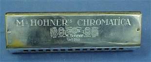 VINTAGE MHOHNER CHROMATIC HARMONICA