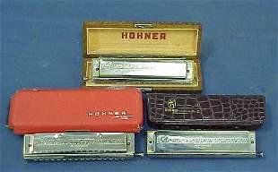 """LOT (3) HOHNER """"THE 64 CHROMONICA"""""""