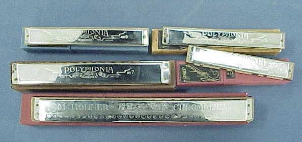 21: LOT (5) HOHNER PROFESSIONAL HARMONICAS