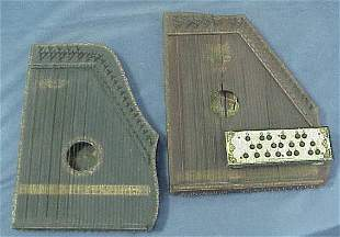 LOT (2) VINTAGE GUITAR ZITHERS