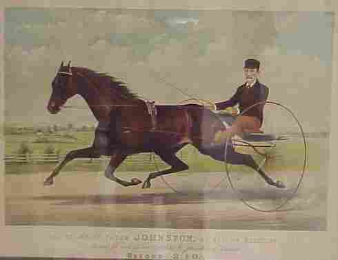 224: CURRIER & IVES HAND COLORED LITHOGRAPH
