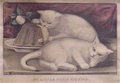 345: CURRIER & IVES HAND COLORED LITHOGRAPH