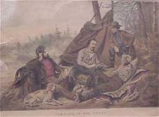 387 CURRIER  IVES HAND COLORED LITHOGRAPH