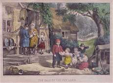 401 CURRIER  IVES HAND COLORED LITHOGRAPH