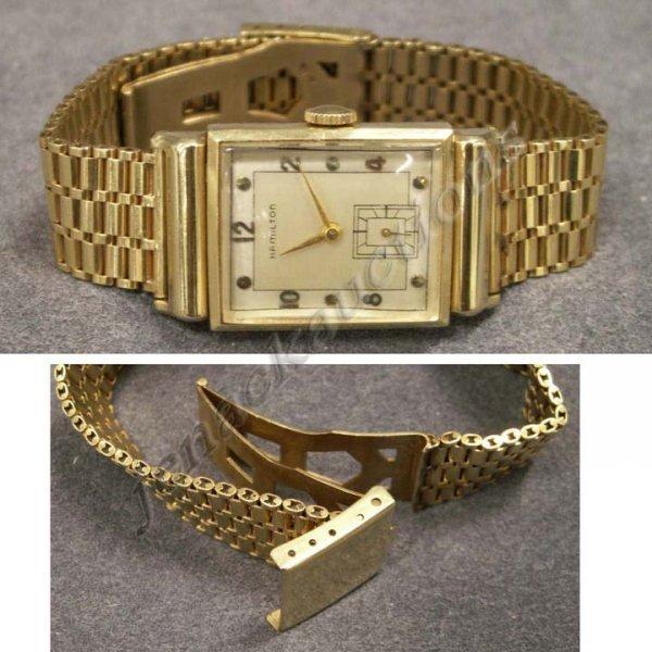 2003: VINTAGE HAMILTON 14K YELLOW GOLD WRISTWATCH