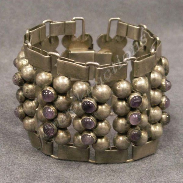 2021: MEXICAN SILVER AND AMETHYST BRACELET