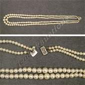 2284: DOUBLE-STRAND CULTURED PEARL NECKLACE