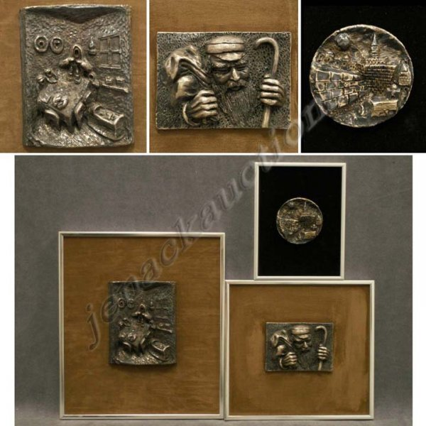 1: LOT (3) STERLING REPOUSSE PANELS