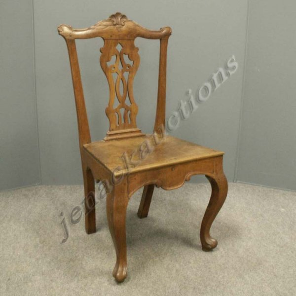 3: CHIPPENDALE CARVED FRUITWOOD SIDE CHAIR