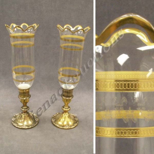 5: PAIR GORHAM GILT STERLING SILVER CANDLESTICKS