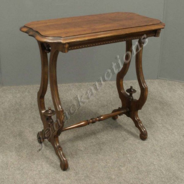 7: VICTORIAN CARVED WALNUT STAND