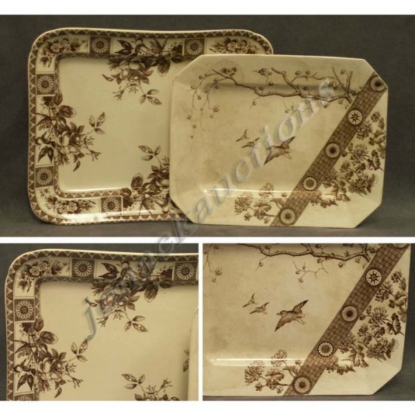 10: LOT (2) POTTERY PLATTERS INCLUDING EMERY BURSLEM