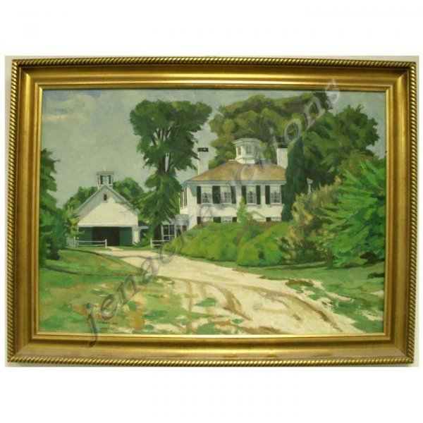 19: PAINTING, PORTRAIT OF A HOMESTEAD, COCROFT