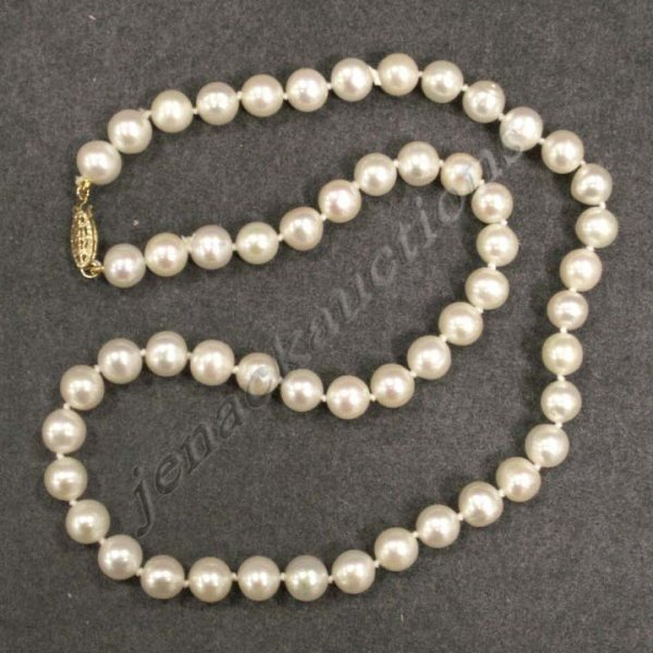 1: 7.5-8 MM FRESHWATER CULTURE PEARL NECKLACE