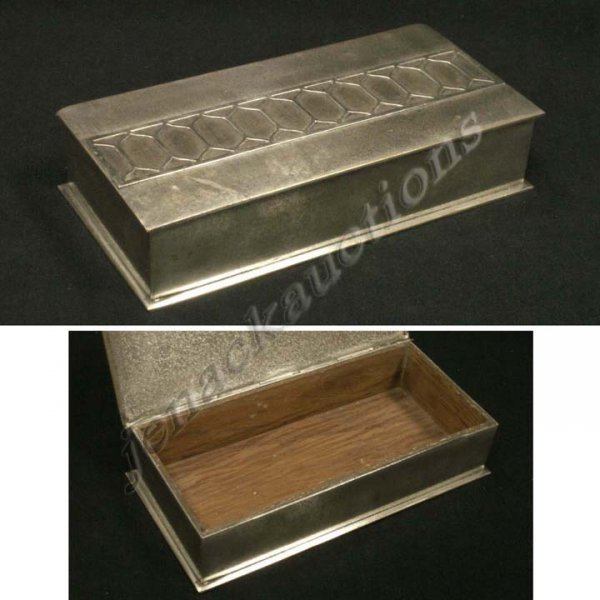 14: SILVER CREST STERLING DECORATED BRONZE BOX