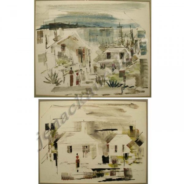 24: LOT (2) WATERCOLORS, VIEWS IN BERMUDA, BIRDSEY