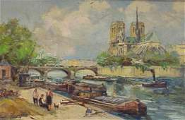 294: OIL ON CANVAS, SIGNED CHARLES BLONDIN