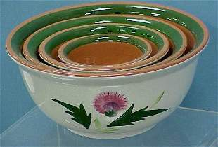 """4 STANGL """"THISTLE"""" NESTING BOWLS"""