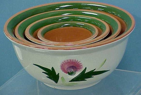 """2: 4 STANGL """"THISTLE"""" NESTING BOWLS"""