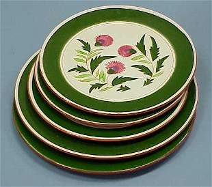 """(5) STANGL """"THISTLE"""" ROUND TRAYS"""