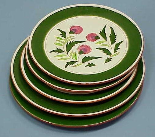 """6: (5) STANGL """"THISTLE"""" ROUND TRAYS"""