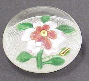 24: EARLY FLORAL LATTICINO PAPERWEIGHT