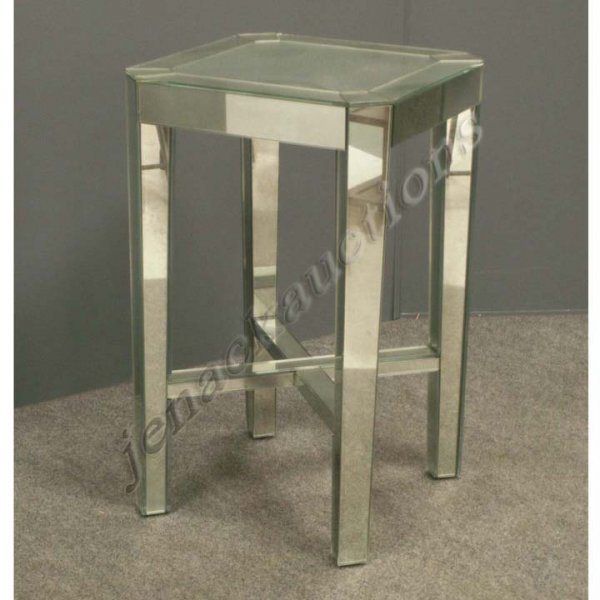 3: ART DECO STYLE MIRRORED STAND