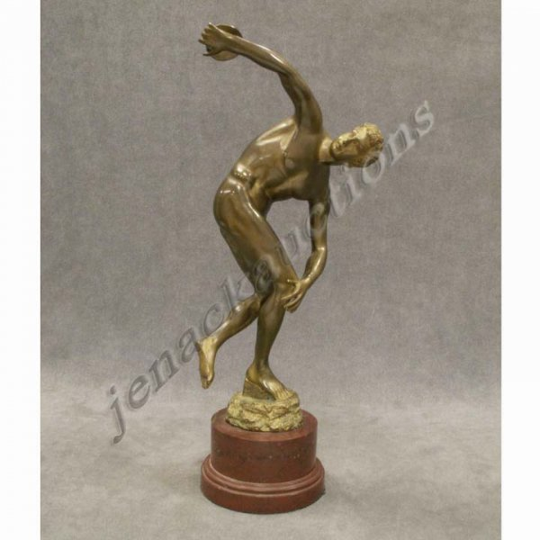 5: GILT BRONZE, THE DISCUS THROWER, FRENCH SCHOOL
