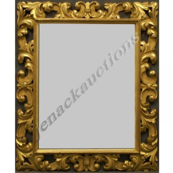 11: ITALIAN BAROQUE CARVED GILT FRAMED MIRROR, 19THC