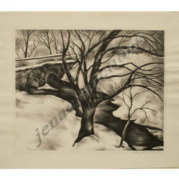 13: LITHOGRAPH, SIGNED VICTORIA EBBELS HUTSON HUNTLEY