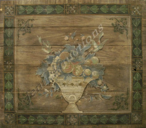 1015: VINTAGE HAND PAINTED FIRE BOARD