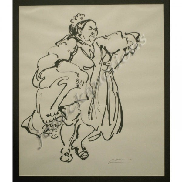 """1020: INK ON PAPER, """"TIE JUANA DEL PIPA"""", AFTER ALCALA"""