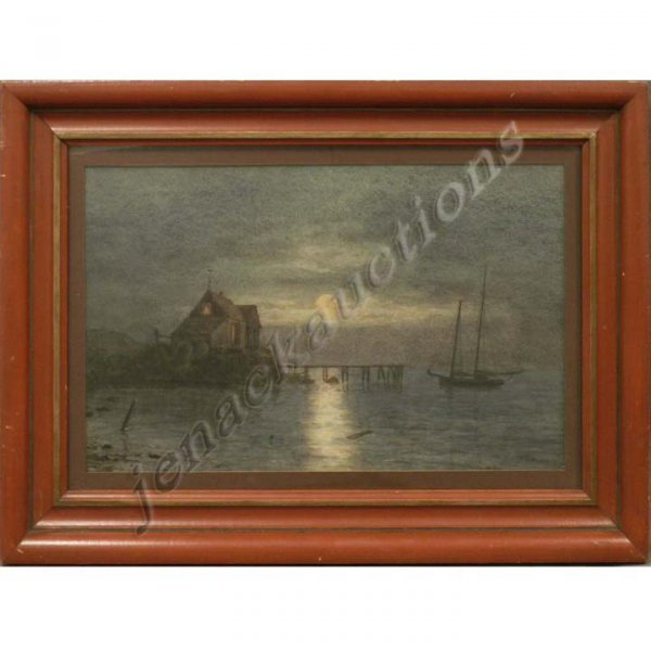 1024: WATERCOLOR, EVENING CALM, SIGNED J.C. NICOLL N.A.