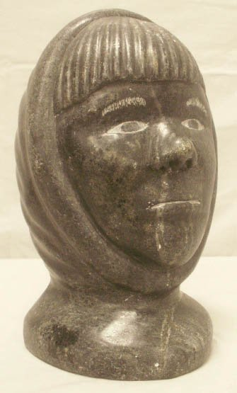 2010: NORTHWEST COAST/INUIT CARVED STONE HEAD OF A CHIL
