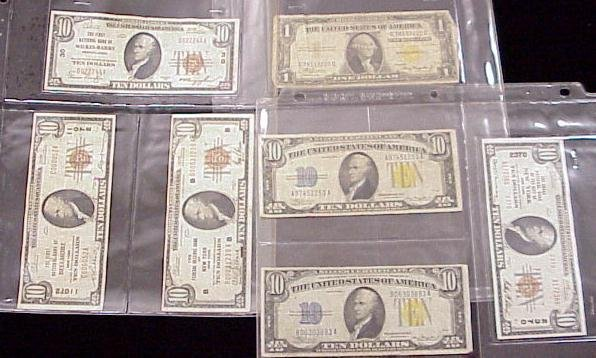 1009: LOT (7) ASSORTED U.S. CURRENCY