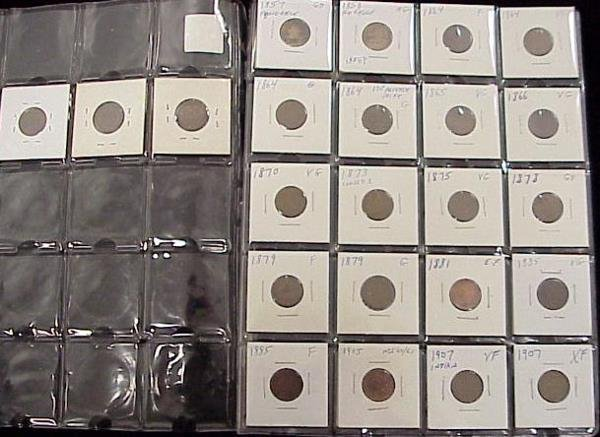 1017: LOT (23) ASSORTED INDIAN HEAD CENTS