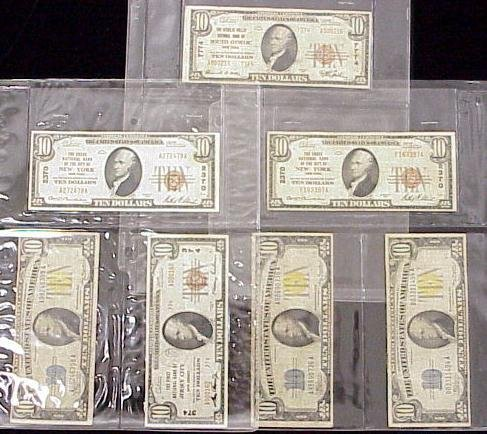 1018: LOT (7) ASSORTED U.S. CURRENCY