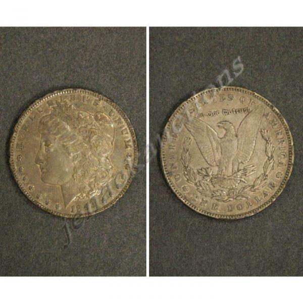 9: 1893 MORGAN SILVER DOLLAR COIN