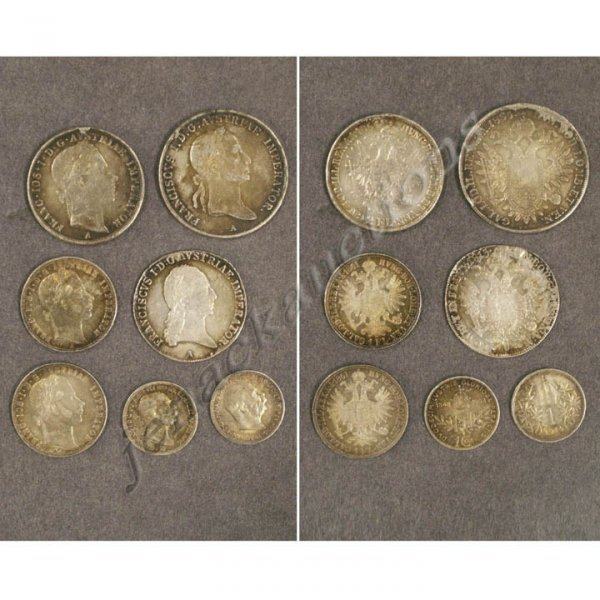 15: LOT (7) ASSORTED AUSTRIAN SILVER COINS