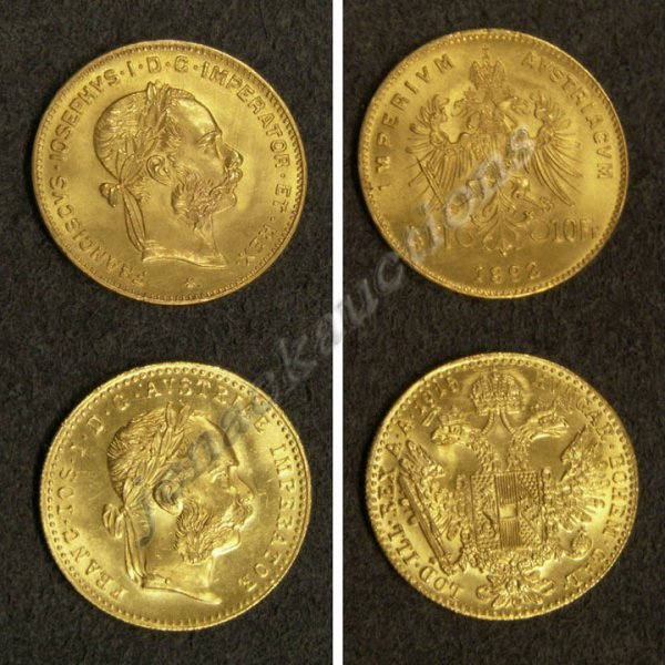 16: LOT (2) AUSTRIAN GOLD COINS INCLUDING 1915 COIN