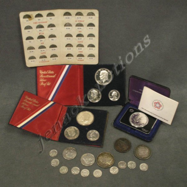 19: LOT (52) U.S. SILVER COINS