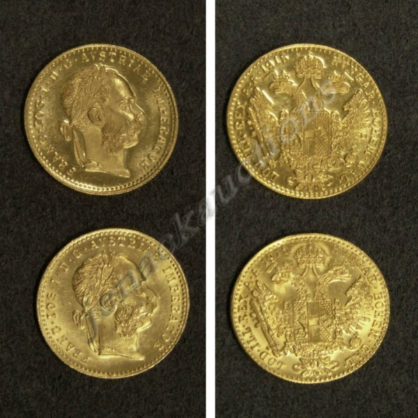 20: LOT (2) AUSTRIAN 1915 DUCAT GOLD TRADE COINS