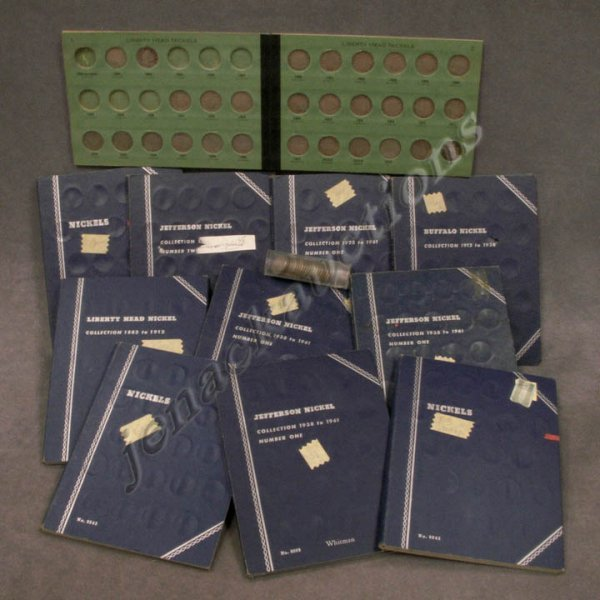 23: LOT (11) COIN FOLDERS ASSORTED NICKELS